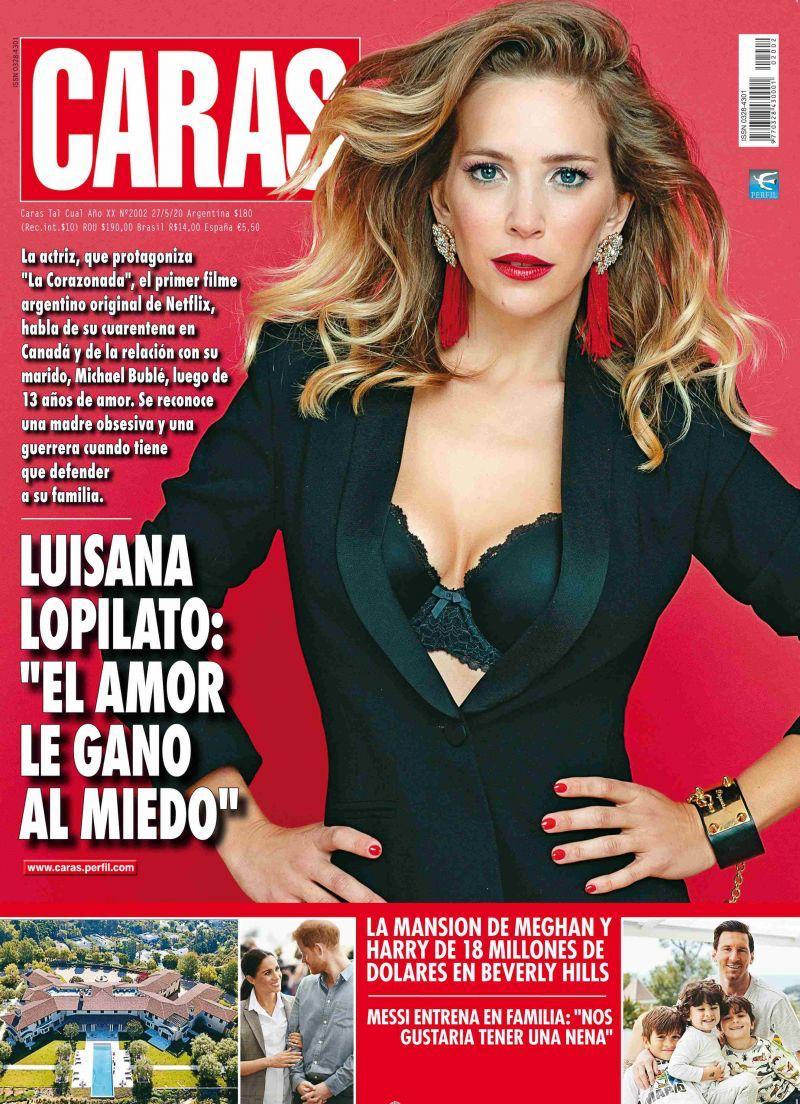 cover image for caras magazine Luisana Lopilato famous actrress black blazer