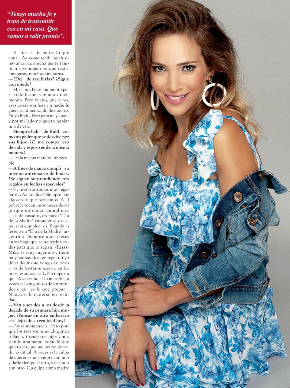 luisanalopilato famous actress caras magazine floral dress