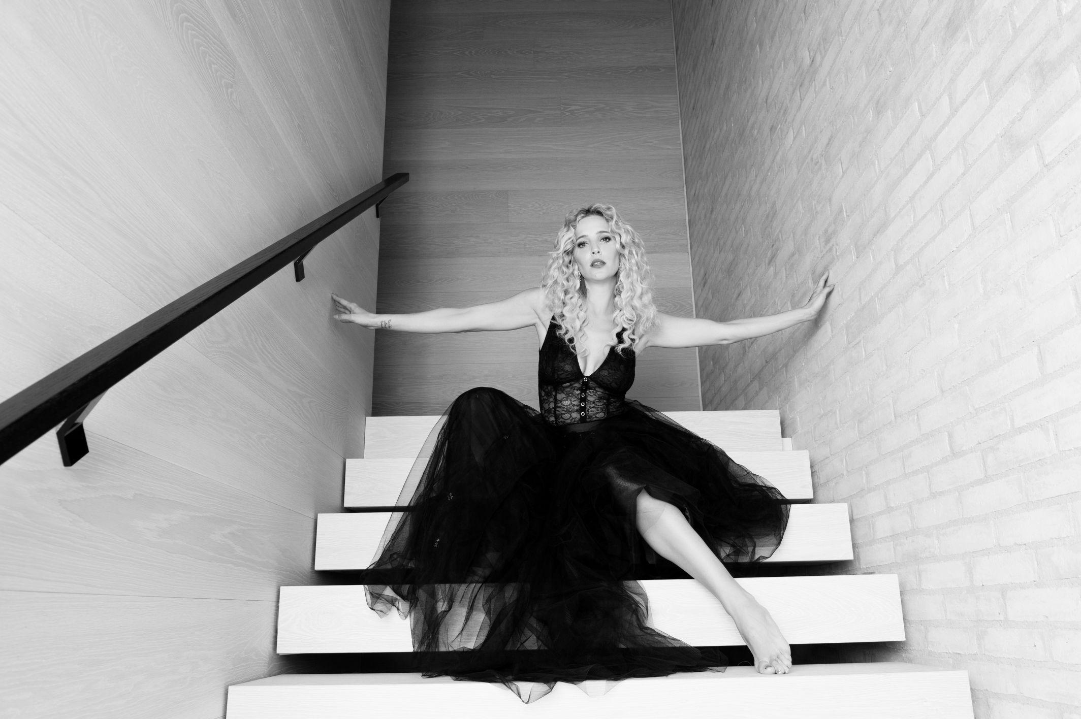 black and whit portrait luisana lopilatio famous actress