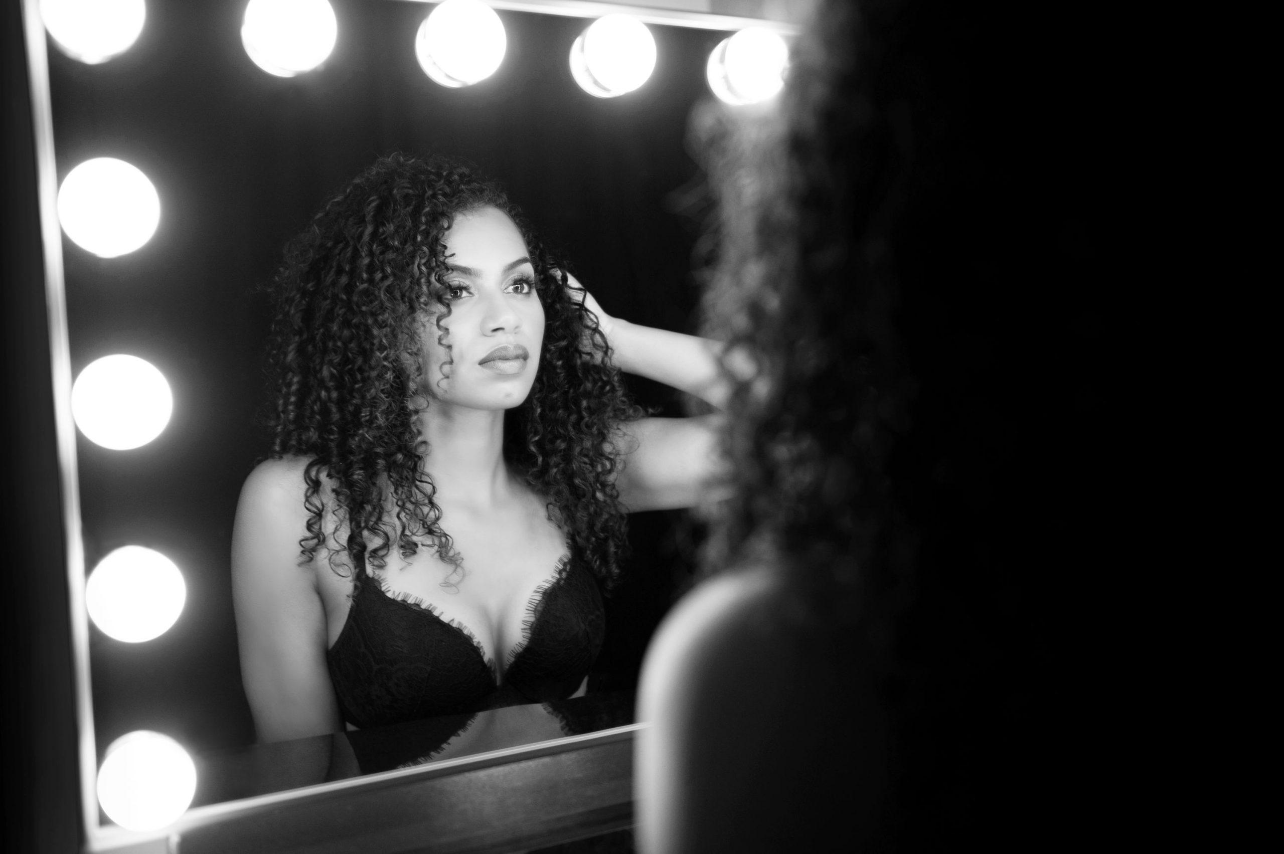 black and white boudoir photography sexy victoria secret lingerie