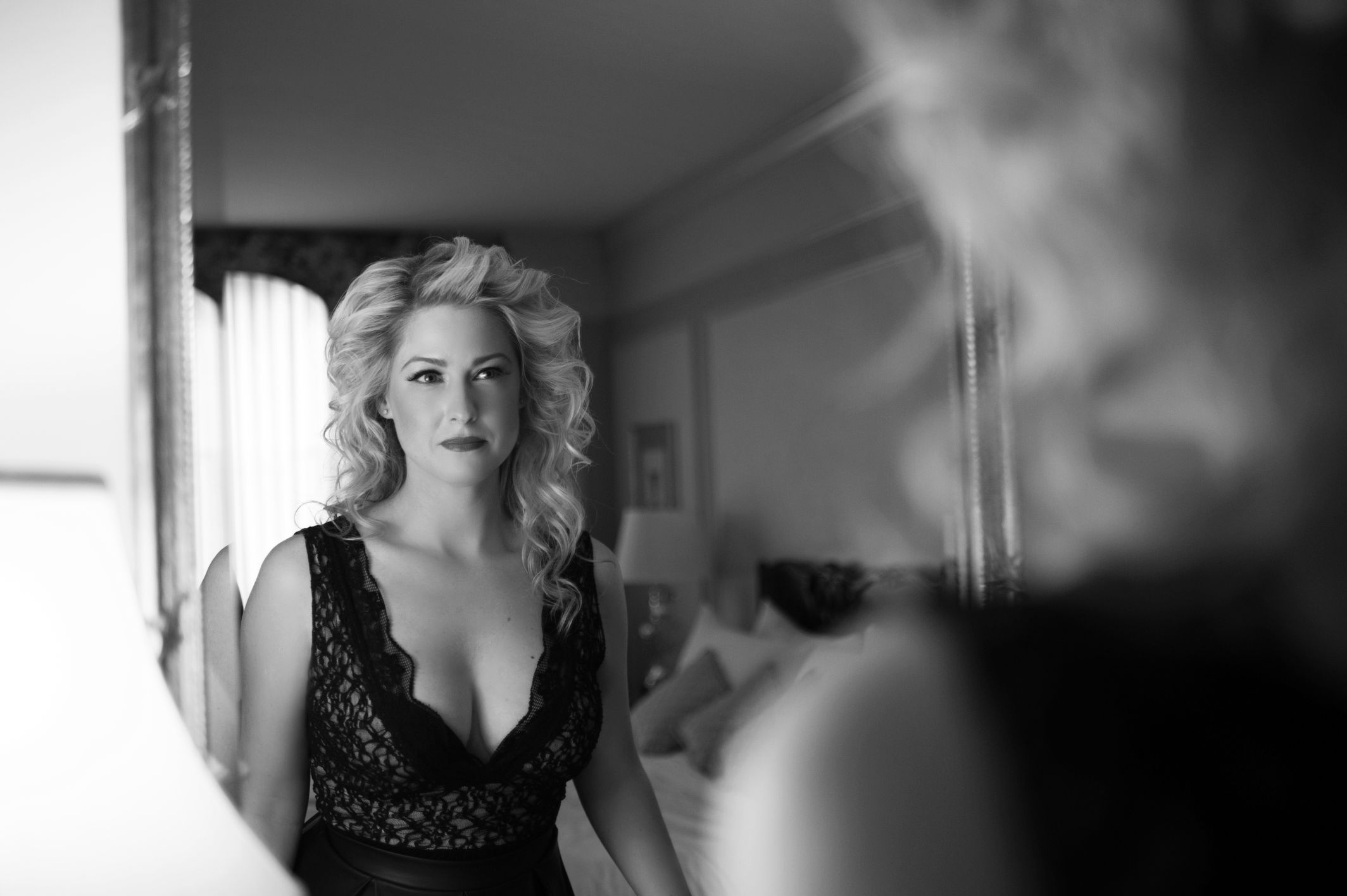 black and white boudoir vancouver hotel